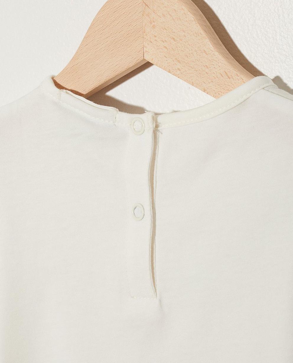 T-Shirts - Weiss - Longsleeve mit Katzenprint